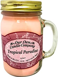 Our Own Candle Company Tropical Paradise Scented 13 Ounce Mason Jar Candle