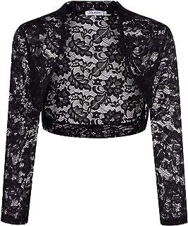 Giacca da Spalla in Stile Blazer Cardigan Top per Vestiti da Sera di Matrimonio KOJOOIN Bolero da Donna in Pizzo imballaggio MeHRWEG