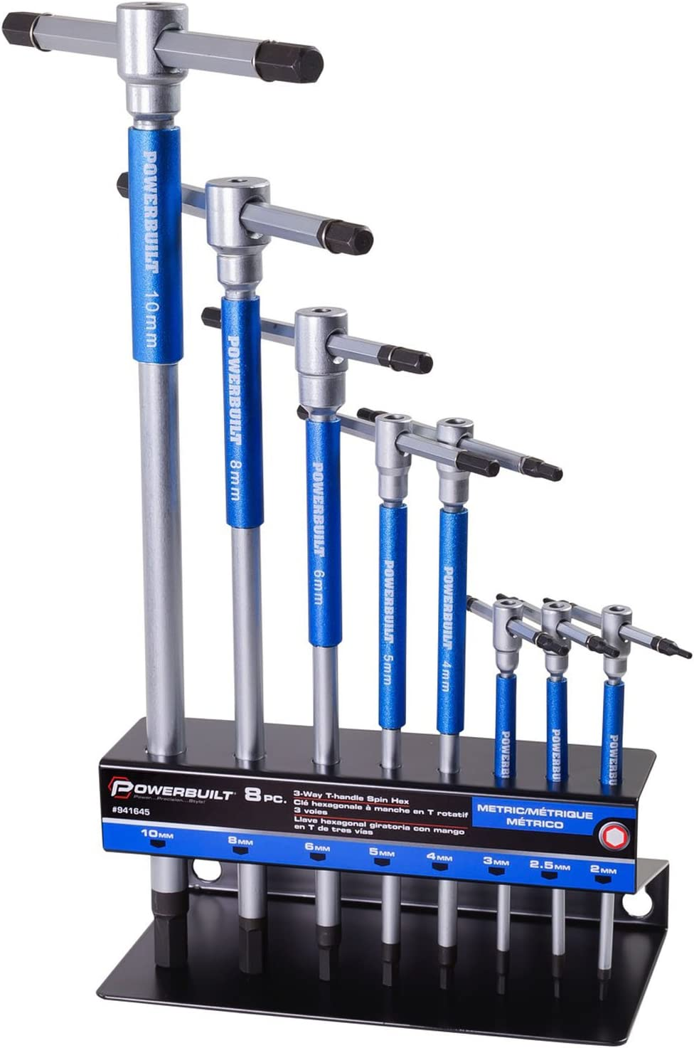 Powerbuilt Metric T-Handle Hex Allen Key Wrench Set