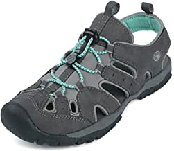 Northside Women's Burke II Athletic Summer Sandal, Dk Gray/Aqua, 10 B(M) US; with a Waterproof Wet Dry Bag