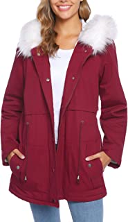 Best womens red parka with fur hood Reviews