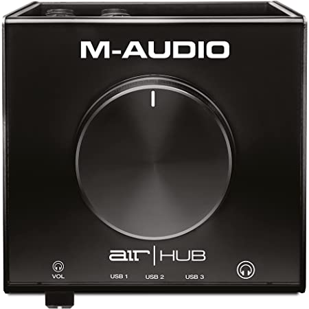 M-Audio AIR|HUB - USB Audio Interface with 3-Port Hub and Recording Software from Pro-Tools & Ableton Live, Plus Studio-Grade FX & Instruments