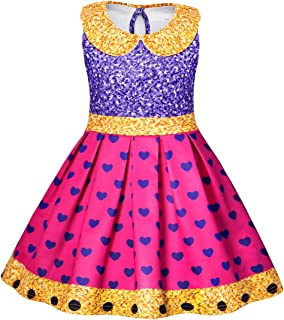 AmzBarley Girls Fancy Party Dress Up Cosplay Role Play Birthday Princess Costume Outfits Age 2-9 Years