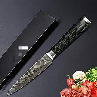 """Couteaux Damas Couteau Chef Couteau Japonais Couteau de cuisine Damascus VG10 Couteaux utilitaires en acier inoxydable 5""""P..."""