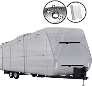 XGEAR Travel Trailer RV Cover with Top 300D Ripstop Polyester Side 150D Polyester (24'-27')