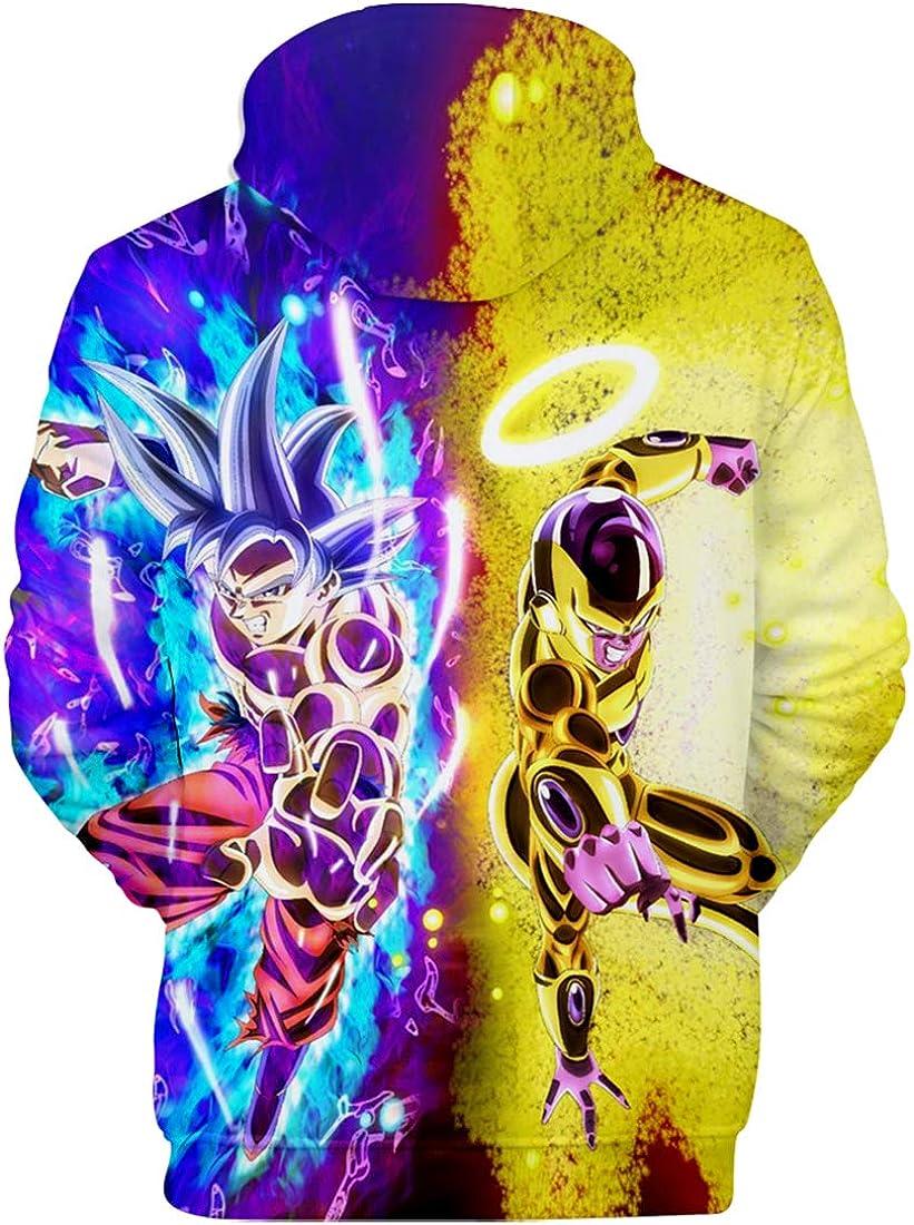 FLYCHEN Ni/ño Sudaderas con Capucha Dragon Ball Anime Jersey de Bolsillo con Capucha y Estampado 3D Wukong Vegeta Super Saiyan Hoodies