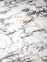 2019-2020 Academic Planner: Large Weekly and Monthly Planner with Inspirational Quotes and Marble Cover Volume 1 (July 2019 - June 2020)