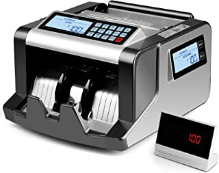 SIMBR Money Counter Machine with 3 Screens, UV/MG/IR/MT Counterfeit Detection, Denomination Bill Counting, Portable Bill C...