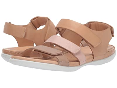 ECCO Flash Flat Sandal (Dune/Rose Dust/Powder Cow Nubuck/Cow Nubuck/Cow Nubuck) Women