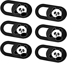 SIREG Webcam Cover Slide Ultra Thin - Cute Panda Web Camera Cover fits Laptop,Tablet,Computer, Smartphone, Protect Your Pr...