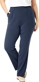 Women's Plus Size 7-Day Knit Straight Leg Pant