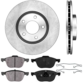 Max Brakes Premium XD Rotors with Carbon Ceramic Pads KT089823 Front + Rear