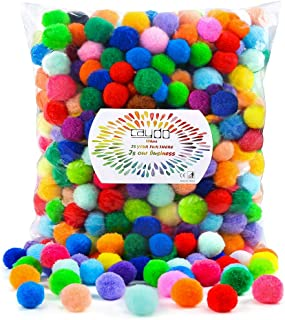 2400 Bright Balls 12 Colors Pom Pom woolen felt balls Jewelry Making Beads 2 cm