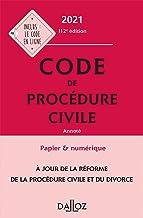 Livres Code de procédure civile 2021, annoté - 112e ed. PDF
