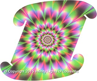 Flower Power Print Pattern Medium Infinity Lights, Puzzle Lights, IQ Lights, LuvaLamps, Jigsaw Lamps, ZE Lights 30 Piece Pack USA