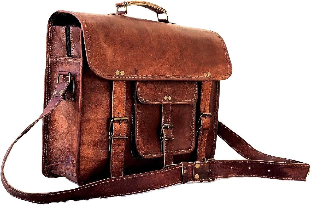 Leather Messenger Manufacturer regenerated product Bag for Men Vintage Laptop Briefcase overseas Satchel B