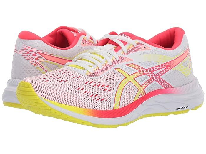 ASICS  GEL-Excite 6 (White/Sour Yuzu) Womens Running Shoes