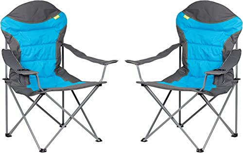 Kampa XL High Back Chair - bleu x 2 by Kampa