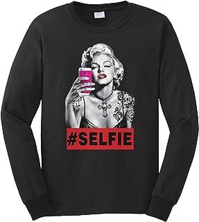 Men's Marilyn Monroe Selfie Long Sleeve T-Shirt