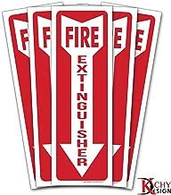 (Set of 5) Fire Extinguisher Sign - 4