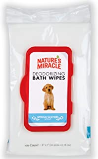 Nature's Miracle Deodorizing Bath Wipes For Dogs, Safely Removes Dirt  and Odor