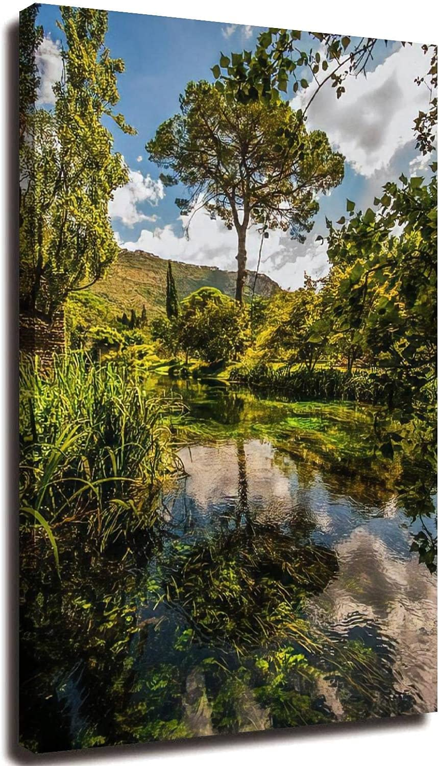 20x32inch Canvas Print Limited time for free shipping Wall Art Detroit Mall Garden S Pictures Painting Ninfa