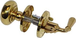 G&M Products Screen & Storm Door Lock Bright Brass