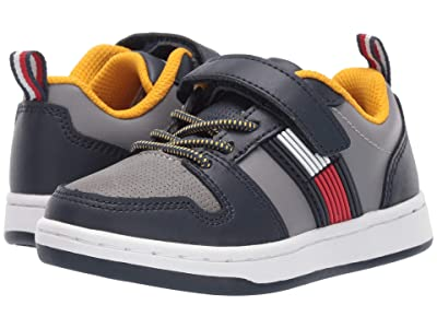 Tommy Hilfiger Kids Cade Court Low PS (Toddler) (Navy/Grey) Kid