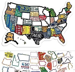 Carte de voyage autocollant État RV - 11