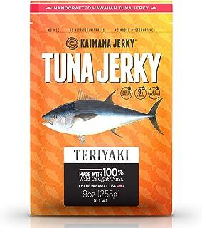 Kaimana Wild-Caught Ahi Tuna Jerky - Teriyaki | Rich in Omega-3s & High in Protein | All-Natural & Organic Fish Jerky (9 oz)