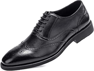 Muyin Mens Business Oxford Casual Style Luxury Crocodile Genuine Leather Classic Fashion Formal Shoes