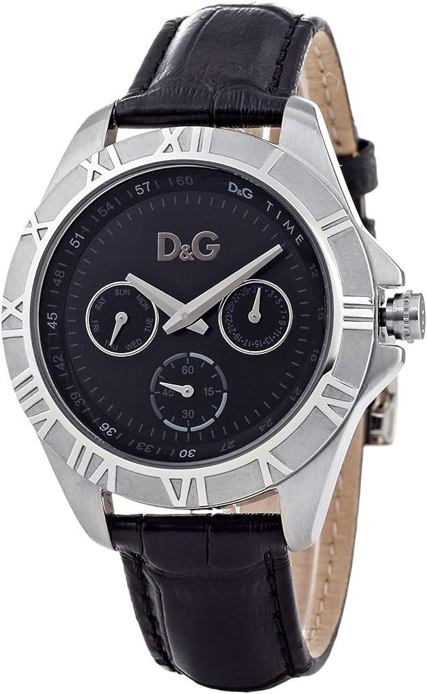 Dolce & gabbana,orologio per donna,con cassa in acciaio e cinturino in vera pelle DW0648