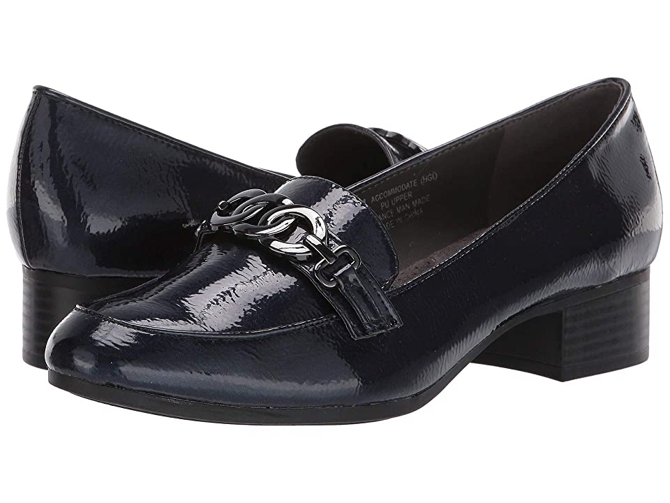 Image of A2 by Aerosoles Accommodate (Navy Patent) Women's Slip on Shoes