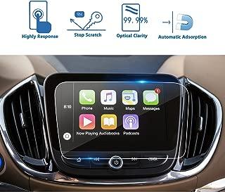 [Upgrade] LFOTPP Chevrolet Volt Malibu Equinox 8 Inch MyLink Car Navigation Screen Protector, [9H] High Configuration Clear Tempered Glass Center Touch Screen Protector Anti Scratch High Clarity