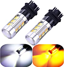 3157 3057 3357 4157 Turn Signal White Yellow Amber Switchback Led Light Bulbs 22 SMD with Projector, for Standard Socket, Not CK, Pair of 2