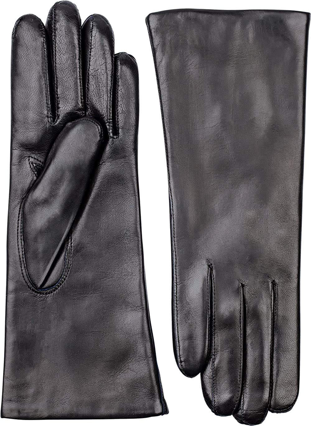 Hestra Cashmere Lined Gloves - Hairsheep Leather Pique 3 Btn Cashmere Wool Lined - Insulated Womens Gloves