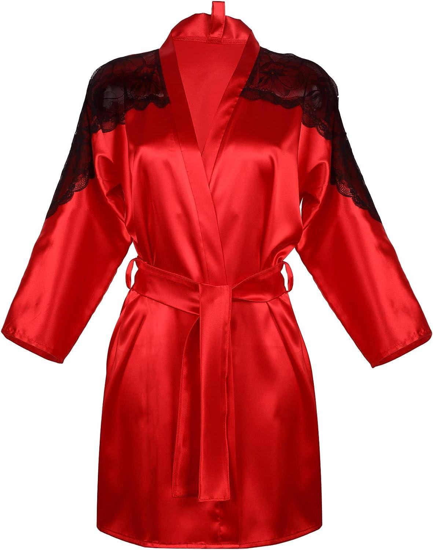 DKaren Women Marion Dressing Gown Soft Red
