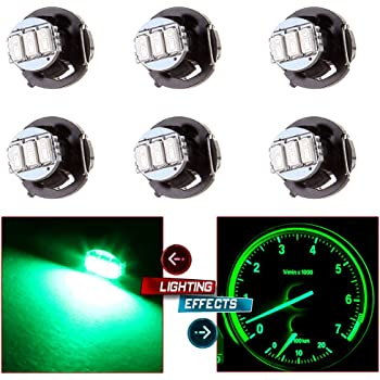 cciyu 4 Pack Ice Blue T4//T4.2 Neo Wedge 2835SMD LED Dash Climate Bulbs Replacement fit for 1997-2007 Jeep TJ Cherokee Wrangler Liberty