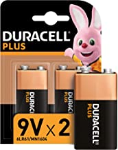 Duracell Plus 9V - Pilas Alcalinas paquete de 2, 1.5 Voltios 6LR61 MX1604