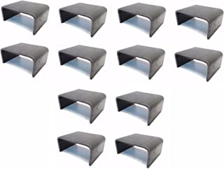 The ROP Shop (12) 2x4 Stake Pocket Board Holders Steel Weld On Trailer Hauler Truck 6 Gauge