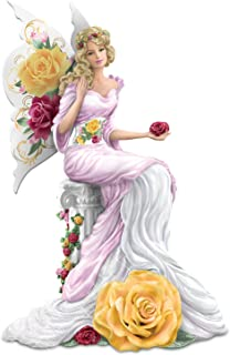 The Hamilton Collection Winged Rose Lady Figurine in The Style of Fine English Rose-Patterned Bone China