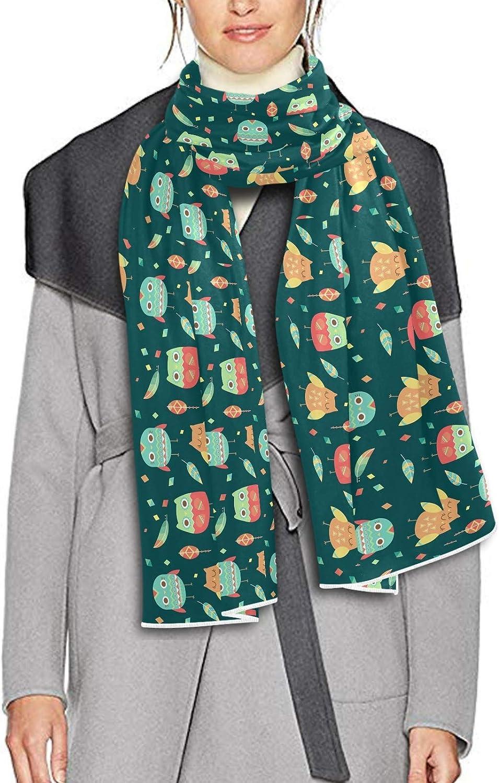 Scarf for Women and Men Cartoon Owls Leaf Shawl Wraps Blanket Scarf Soft warm Winter Oversized Scarves Lightweight