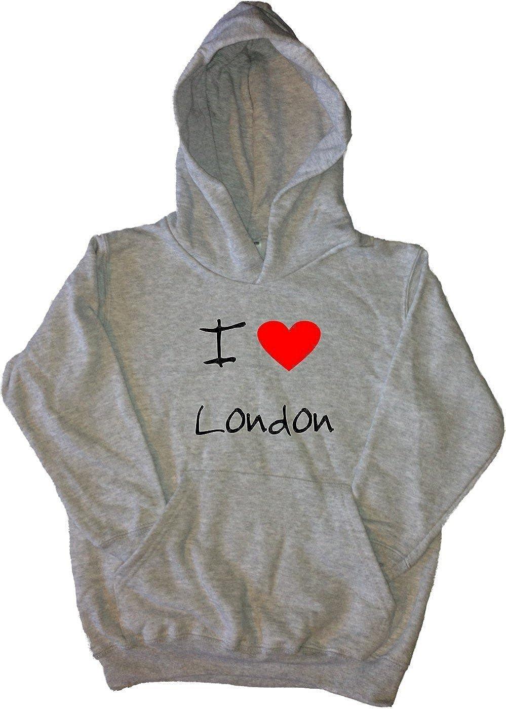 I Love Heart London Grey Kids Hoodie