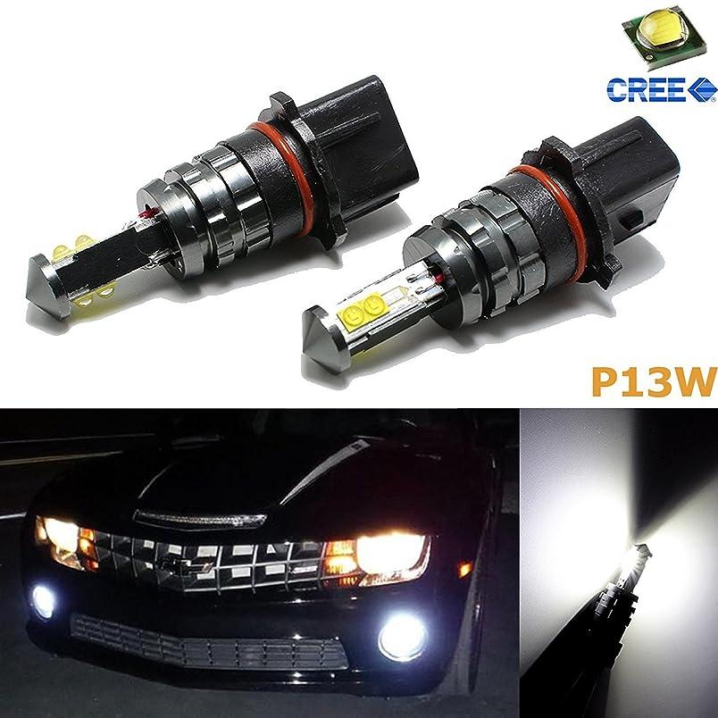 Xotic Tech 2x 6000K Xenon White HID 80W P13W SH24W LED Bulbs For Headlight DRL Daytime Running Lights Fog Lights ej743525838