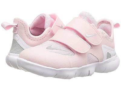 Nike Kids Free RN 5.0 (Infant/Toddler) (Pink Foam/Metallic Silver/Wolf Grey) Girls Shoes