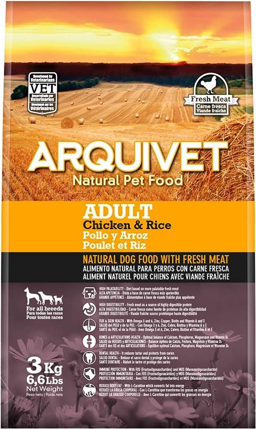 Arquivet Pienso natural para perros - Adult Pollo y Arroz - 3 kg