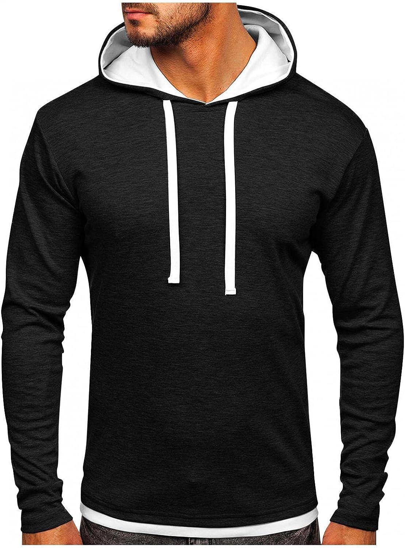Hoodies for Men Men's Fashion Hoodies & Sweatshirts Autumn Slim Casual Patchwork Hooded Long Sleeve Sweatershirts Top