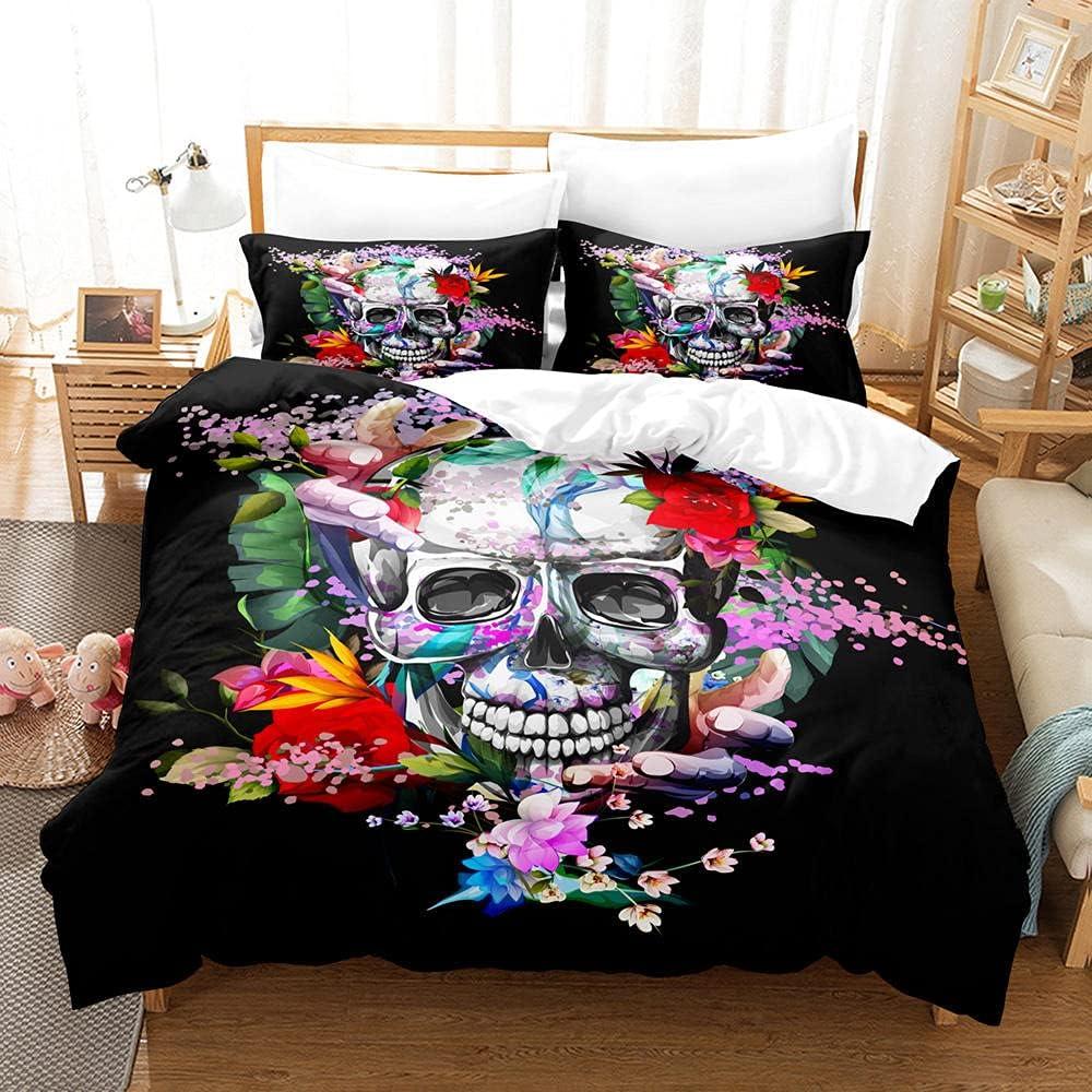3D Printed Duvet Quilt Ranking TOP20 Popular brand Co Skull Cover Flower
