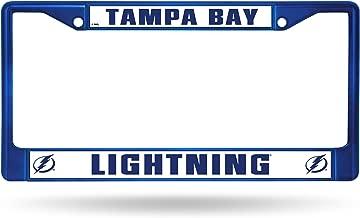 NHL Team Colored Chrome License Plate Frame
