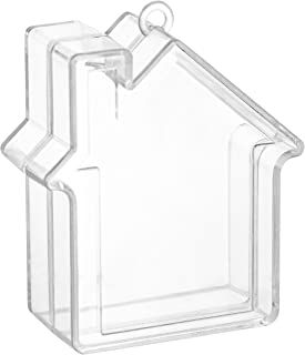 """House Shaped Acrylic Candy Boxes - 12 Pack - 2.83\""""x2.08\""""x1.02\"""" - Perfect for Weddings, Birthdays, Party Favors and Gift..."""